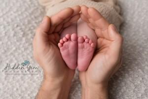 Newborn feet, macro shot