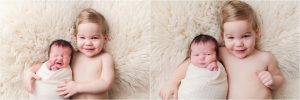 Sibling pictures during newborn session