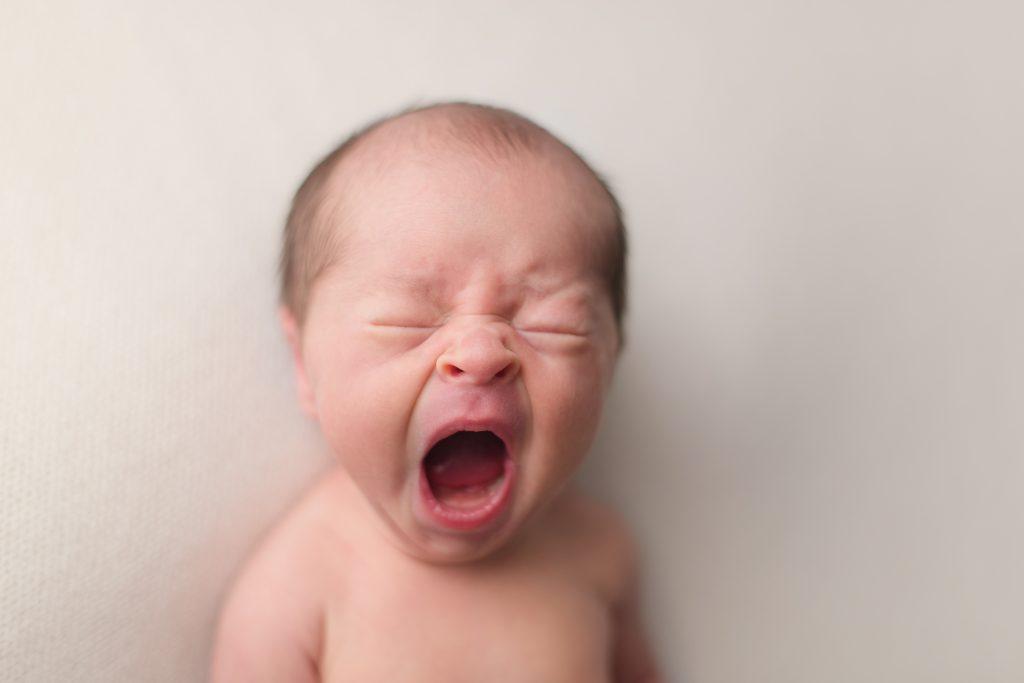 Baby yawn