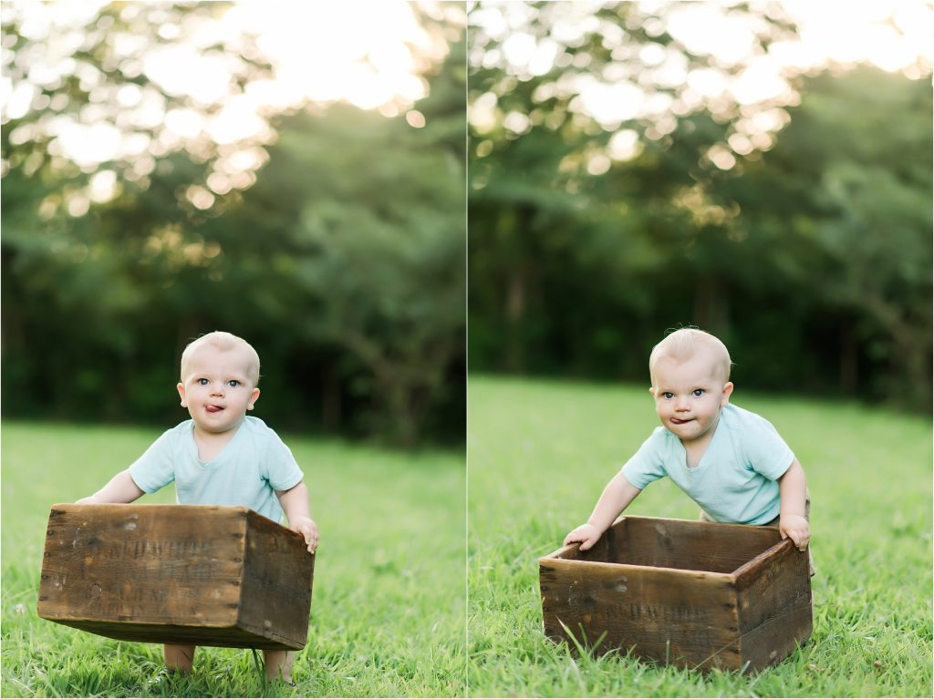 One year old boy in Taylorville, Il